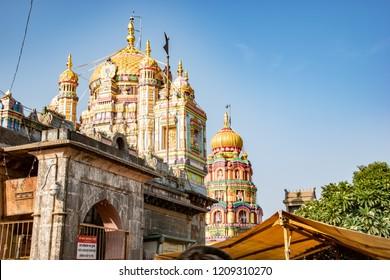 Pune, India - October 21 2018: Architecture at Khandoba Temple at Jejuri near Pune India.