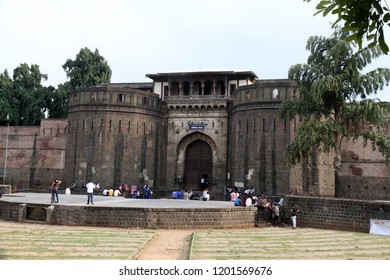 Pune /Maharashtra/  India 26, September 2018. Shaniwar Wada palace in Pune, India. It is a historical fort in Maharashtra; the palace built in 1732 it was the capital of the Peshwas of the Maratha