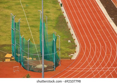 Pune,  Maharashtra, India , October 12th , 2008  Commonwealth youth Games at   Shree Shiv Chhatrapati sports Stadium Aerial View of Race Track