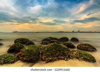 Punggol Rocky Beach, Singapore