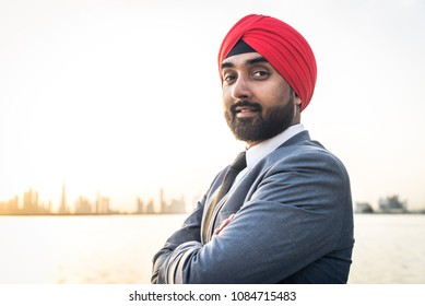 Punjabi businessman portrait outdoors - Hindi man wearing formal elegant suit