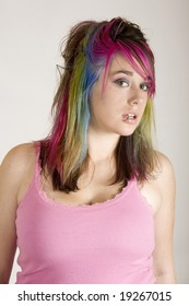 a punky fun female model