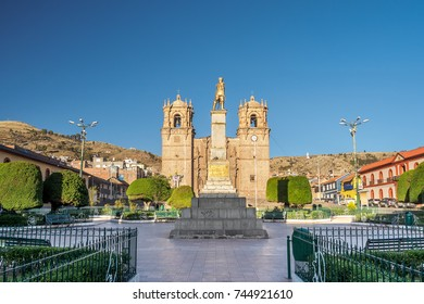 Puno Armas Plaza and Cathedral. (Peru)