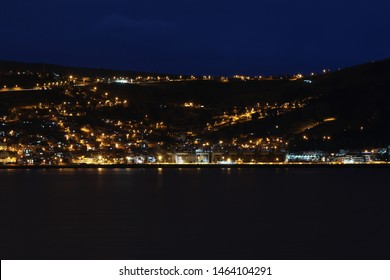 Puno at Night. Lake Titicaca. Peru