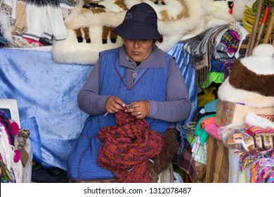 Puno/Peru-January 22, 2019: The Puno streets are full of Andean woman at the markets of  Puno, Peru