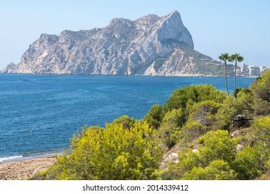 Punta Albir Cape near Altea lighthouse mountain mediterranean sea Alicante Spain