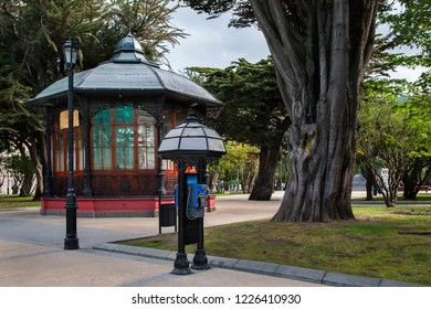 Punta Arenas, Chile – December 25, 2017: Tourist Information Office on Plaza de Armas
