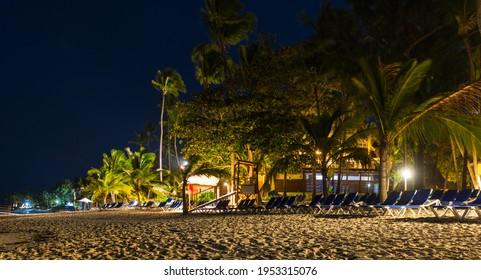 Punta Cana Beach at Night