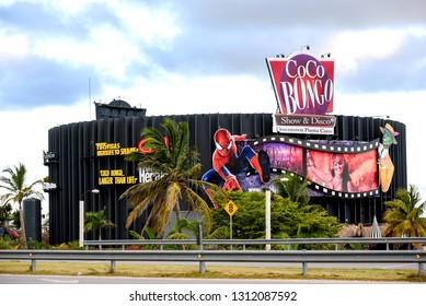 Punta Cana, Dominican Republic – February 7, 2019:  Coco Bongo is a multi-level, high energy night club with live performances, audio and video entertainment.  The chain s owned by Jim Carrey