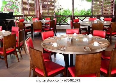 Punta Cana, Dominican Republic - june 4 2017 : a restaurant