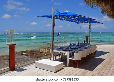 Punta Cana, Dominican Republic - june 1 2017 : restaurant on the seaside