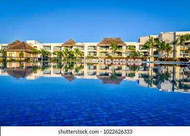 Punta Cana, Dominican Republic - November 7, 2011: Located on Bavaro Beach, the Hard Rock Resort and Casino  has a beautiful beach area, outdoor pools, a spa, and casino.