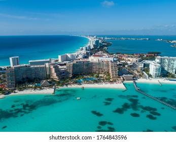 Punta Cancun during covid-19 quarantine