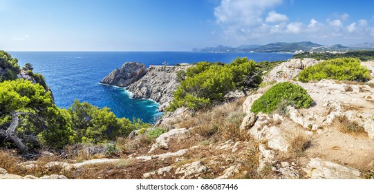 Punta de Castellat in Capdepera near Cala Ratjada, Majorca, Balearic Islands, Spain, Europe