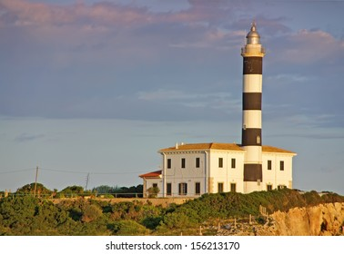 Punta de ses Crestes lighthouse in Porto Colom (Majorca - Spain)