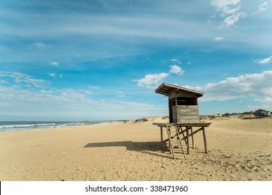 Punta del Diablo beach on Uruguays east coast