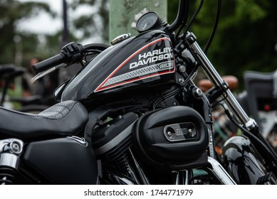 PUNTA DEL ESTE, MALDONADO, URUGUAY 04/03/19 MOTO CLASICA HARLEY DAVIDSON CHOPPER MEET