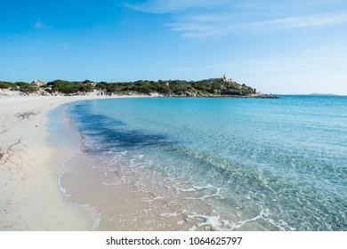 Punta is Molentis bay, Villasimius, Cagliari, Sardinia, Italy