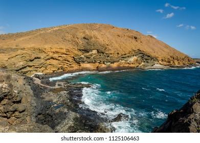 Punta Montana Amarilla landscape, Canary islands, Spain.