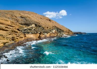 Punta Montana Amarilla, touristic spot at Tenerife islans, Spain.