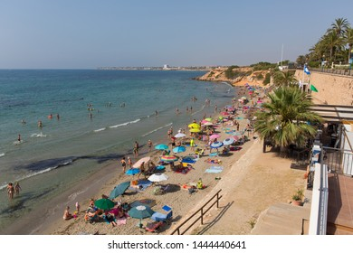 PUNTA PRIMA, SPAIN-JULY 1st 2019: Punta Prima 2 days before Daniel Mee, and Jayden Dolman died in a fall whilst taking a selfie on Wednesday 3rd July 2019.  Punta Prima, Spain, Monday 1st July 2019