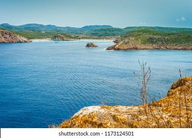 Punta Rotja and Cap de Ferro (Red Peak and Iron Cape) in Minorca, Balearic Islands, Spain.