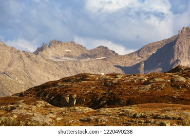 The Punta Rotonda in the Southern Swiss Alps just north of the Italian border, viewed from the Grimsel Pass