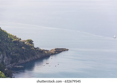Puntachiappa, the most extreme isthmus of the portofino mountain