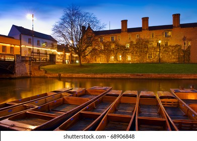 Punts on the River Cam - Cambridge, England