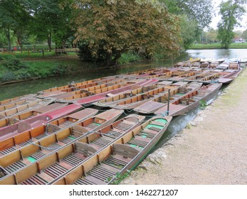 Punts on the River Cherwell, Oxford