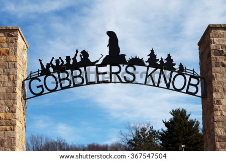 PUNXSUTAWNEY, PA - MARCH 29: Entrance to Gobblerâ??s Knob on March 29, 2015 in Punxsutawney, PA. Gobblerâ??s Knob is the site of the annual Groundhog Day celebration held on February 2nd.