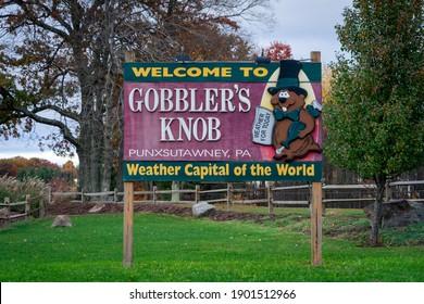 Punxsutawney, PA Oct 24, 2020:  Gobbler's Knob . Groundhog Day.  February 2