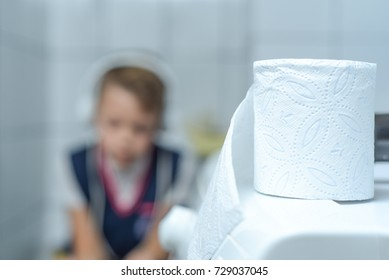 pupil on the toilet