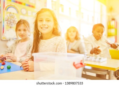 Pupils in elementary school in class at class