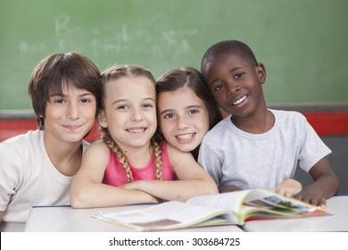 Pupils looking at camera