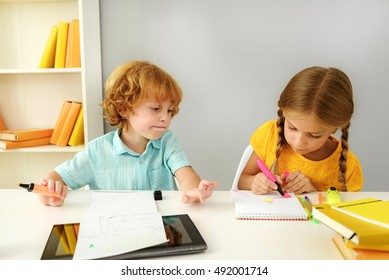 pupils studying in elementary school