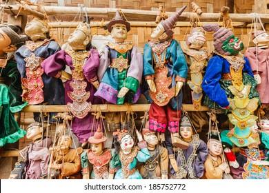 Puppet Myanmar tradition dolls