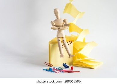 A puppet with Stationery