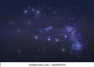 Puppis Constellation in outer space. Stern constellation stars on the night sky Elements of this image were furnished by NASA