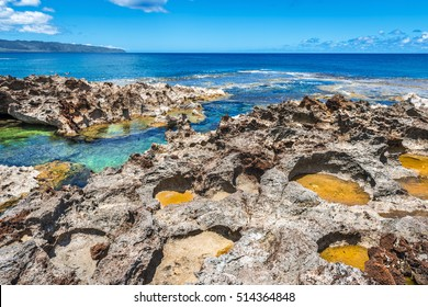 Pupukea Sharks Cove in Oahu, Hawaii, USA