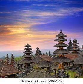 Pura Besakih. - largest hindu temple of Bali, Indonesia