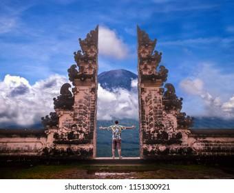 Pura Luhur Lempuyang temple Bali Indonesia.
