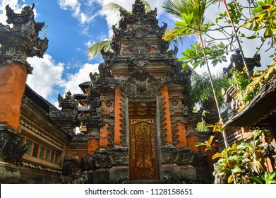 Pura Taman Saraswati temple also known as Lotus temple in Ubud, Bali island.
