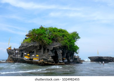 Pura or Temple Tanah Lot is one of famous tourist attraction place in Bali, Indonesia.