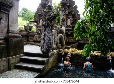 PURA TIRTA EMPUL, BALI, INDONESIA-7th OCT 2016:- Pura Tirta Empul is a water temple in bali, you can bathe your sins away in the spring water