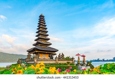 Pura Ulun Danu Batur is a temple in Bali situated on lake Beratan high up in a crater of an extinct volcano in Bali, Indonesia
