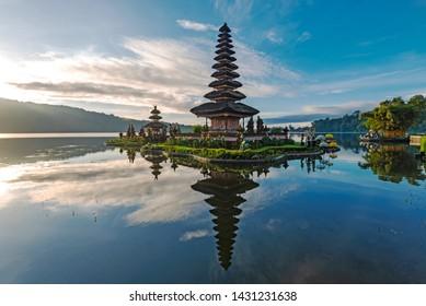 Pura Ulun Danu Beratan in Bedugul Bali Indonesia.