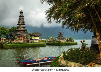 Pura Ulun Danu Bratan Hindu Temple on Bratan Lake - Bali, Indonesia