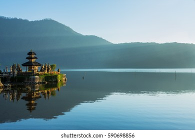 Pura Ulun Danu Bratan at sunrise
