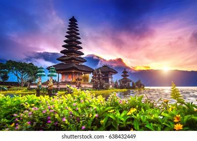 pura ulun danu bratan temple in Bali, indonesia.